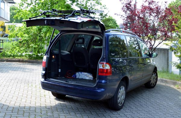 seat alhambra fahrradtr ger als hecktr ger. Black Bedroom Furniture Sets. Home Design Ideas