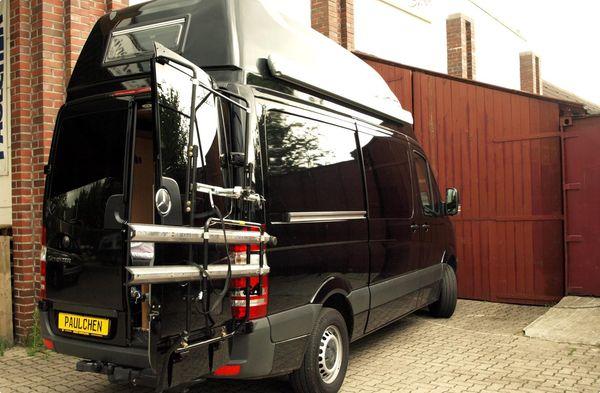 mercedes mercedes sprinter fahrradtr ger als hecktr ger. Black Bedroom Furniture Sets. Home Design Ideas