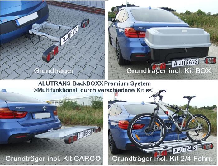 ALUTRANS BackBOXX Premium Komplettsystem BOX für d. AHK silver line AHK Lastenträger