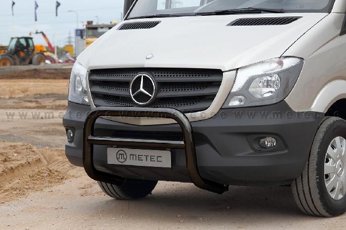 Frontschutzbügel Kuhfänger Bullfänger Mercedes Sprinter 2013-2018, EuroBar 70mm schwarz pulverbeschichtet
