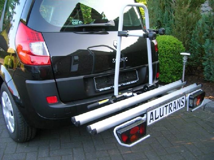 Fahrradträger ALUTRANS Biker XL für d. Anhängerkupplung AHK Fahrradträger für 2 Fahrräder