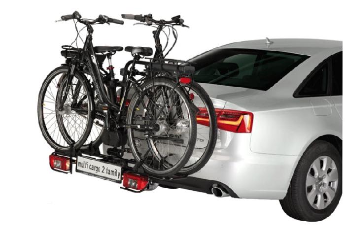 Fahrradträger MFT MULTI-CARGO 2 family, f. 2 Fahrräder für d. Anhängerkupplung AHK Fahrradträger für 2 Fahrräder
