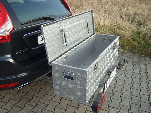 ALUTRANS Heckträger mit ALU Box Jagd ca. 1240 x 400 x H380 f. AHK AHK Lastenträger