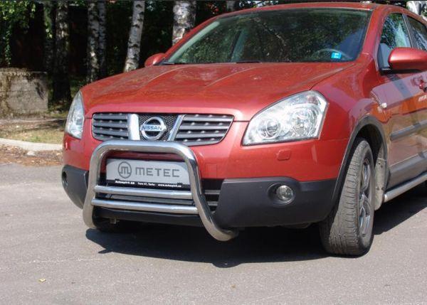 Frontschutzbügel Kuhfänger Bullfänger Nissan Qashqai 2006-2010, EuroBar 60mm Edelstahl
