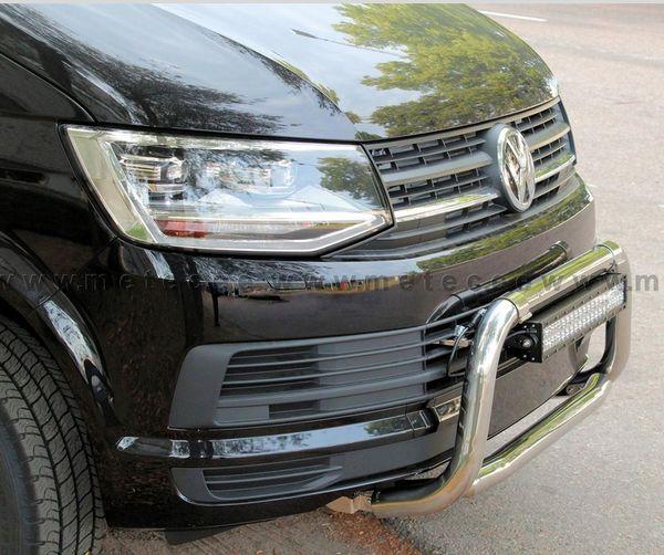 Frontschutzbügel Kuhfänger Bullfänger VW T6, nicht für Fahrzeuge mit 180PS, 2015-, EuroBar 60mm Edelstahl