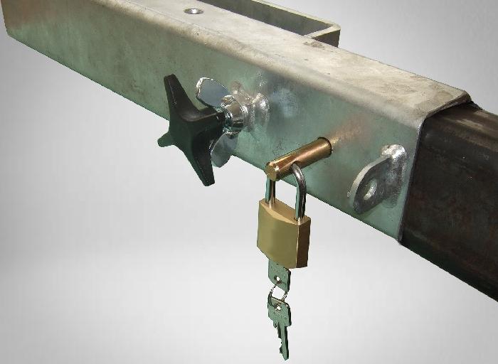 Diebstahlsicherung/ Schloss inkl. Schlüssel für Lastenträger am Wohnmobil
