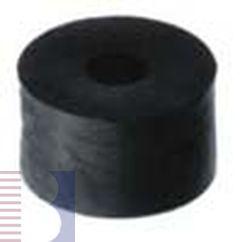 Distanzhülse, schwarz, 15,0 x 3,3 x 10 Kunstst.