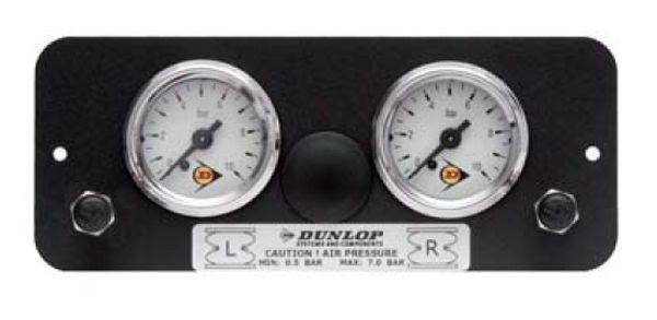 ( LF3) Manometerblende für Zweikreisanlage, universal, gerade