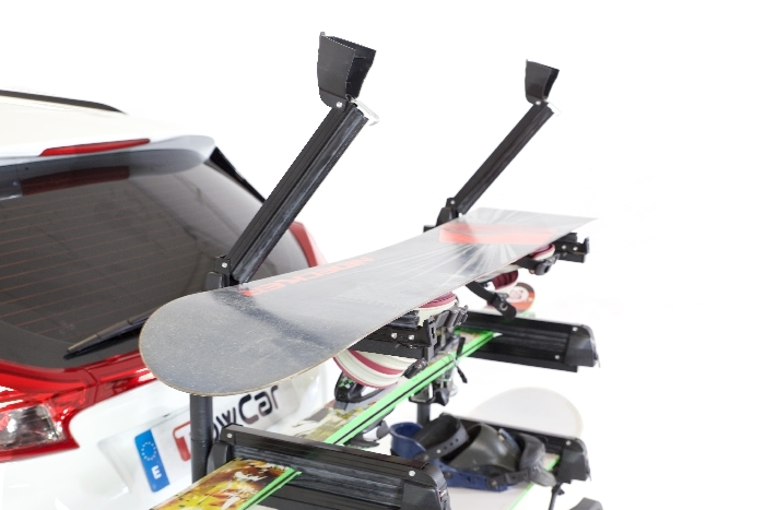 TowCar Aneto SKI u. Snowboard Heckträger für d. Anhängerkupplung AHK Heckträger für SKI und Snowboard