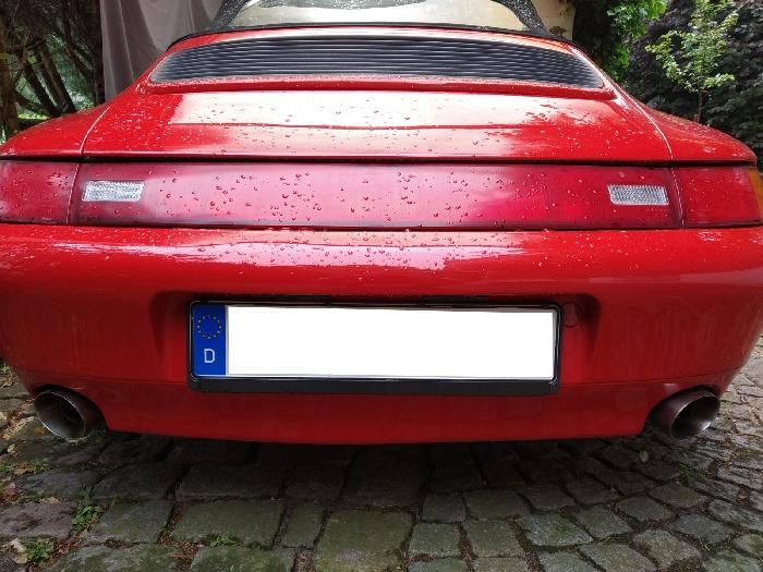 Anhängerkupplung für Porsche-911 (993) - 1993-1998 993,  nur für Heckträgerbetrieb, Sonderanfertigung, Montage nur bei uns im Haus Ausf.:  vertikal