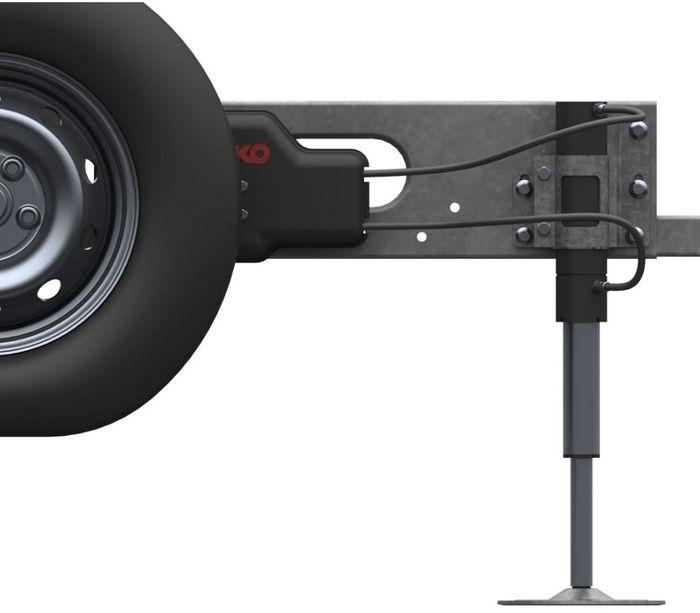 Hydraulische Hubstützen Anlage Fiat Ducato m. Blattfeder 2014-, ALKO HY4 inkl. Wiegefunktion, App Steuerung ( AL-KO ) Kl. 1 bis 3,8t zGG, 12V