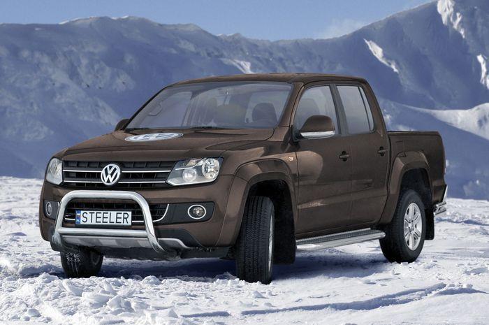 Frontschutzbügel Kuhfänger Bullfänger VW Amarok 2010-2016, Steelbar Q 70mm