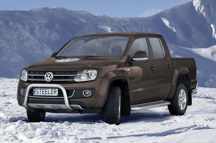 Frontschutzbügel Kuhfänger Bullfänger VW Amarok 2010-2016, Steelbar 70mm, schwarz beschichtet