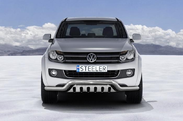 Frontschutzbügel Kuhfänger Bullfänger VW Amarok m. originalem Unterfahrsch. 2010-2016, Sportbar UF 70mm