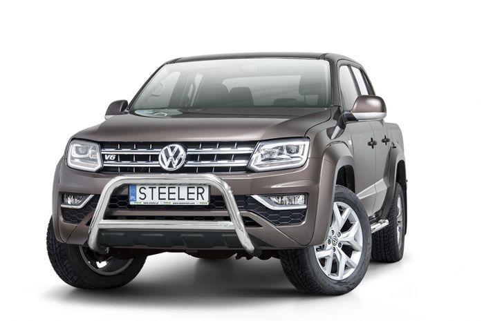 Frontschutzbügel Kuhfänger Bullfänger VW Amarok 2016-, Steelbar Q 70mm, schwarz beschichtet