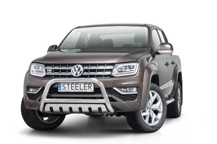 Frontschutzbügel Kuhfänger Bullfänger VW Amarok 2016-, Steelbar QFU 70mm, schwarz beschichtet