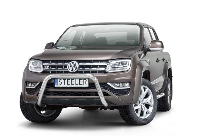 Frontschutzbügel Kuhfänger Bullfänger VW Amarok 2016-, Steelbar 70mm, schwarz beschichtet