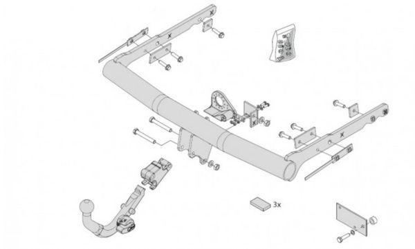 Anhängelast erhöhen Ford S-Max Typ WA6, 05. 2006-12.2014 (horizontal abnehmbare AHK incl. Gutachten)