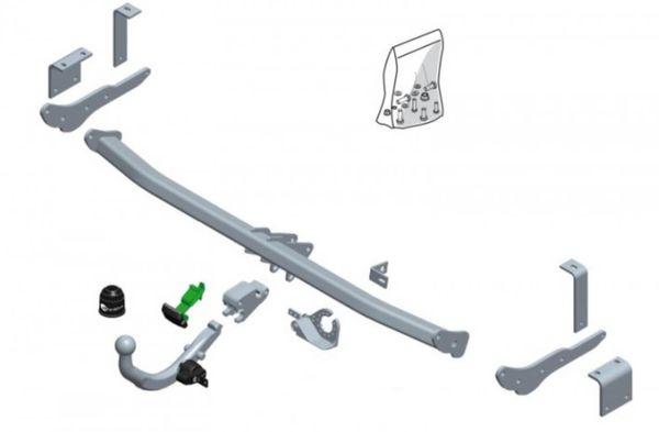 Anhängelast erhöhen Mercedes Citan, 10. 2012- (horizontal abnehmbare AHK incl. Gutachten)