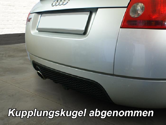 Anhängerkupplung Audi TT 8N, nur für Heckträgerbetrieb, Sonderanfertigung, Montage nur bei uns im Haus, Baureihe 1998-2007  vertikal