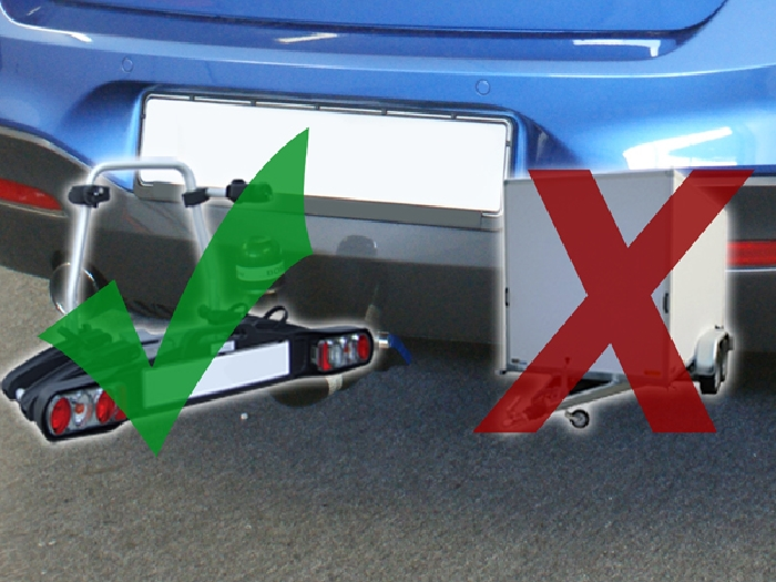 Anhängerkupplung für BMW-1er F21, speziell M135i nur für Heckträgerbetrieb, Baujahr 2012-2014