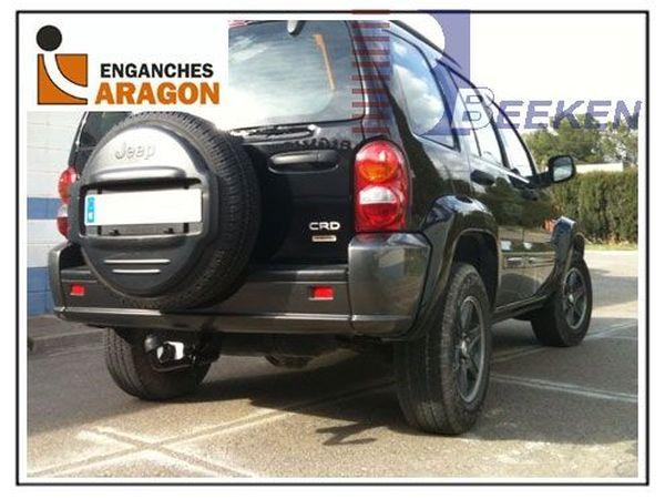 Anhängerkupplung für Jeep-Cherokee - 2001-2008 KJ Ausf.:  feststehend