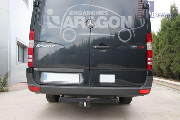 Anhängerkupplung für Mercedes-Sprinter Kastenwagen Heckantrieb - 2006-2018 409-424, Radstd. 3665mm, Fzg. ohne Trittbrettst. Ausf.:  feststehend