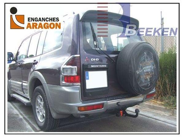 Anhängerkupplung für Mitsubishi-Pajero V80, langer Radstand - 2007-
