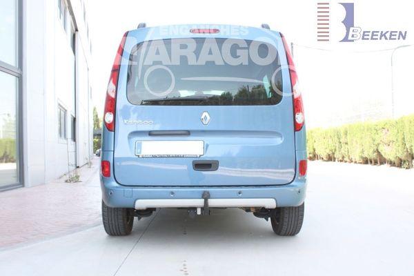 Anhängerkupplung für Renault-Kangoo II - 2008-2013 incl. Rapid, Express, Z. E, nicht BeBop u. Compact Ausf.:  feststehend