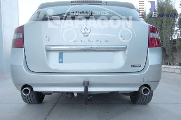 Anhängerkupplung Renault Laguna Kombi, Grandtour, nicht GT 4 Control, Baureihe 2007-  vertikal
