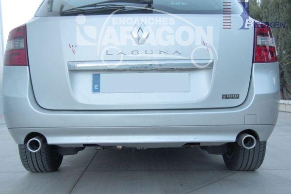 Anhängerkupplung für Renault-Laguna - 2007- Kombi, Grandtour, spez. GT 4 Control Ausf.:  vertikal