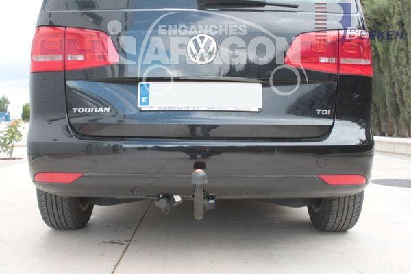 Anhängerkupplung für VW-Touran Van, spez. 7 Sitzer m. Erdgas(Ecofuel) - 2010-2015