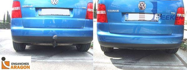 Anhängerkupplung für VW-Touran - 2003-2007 Van, auch f. Modell Cross Ausf.:  vertikal