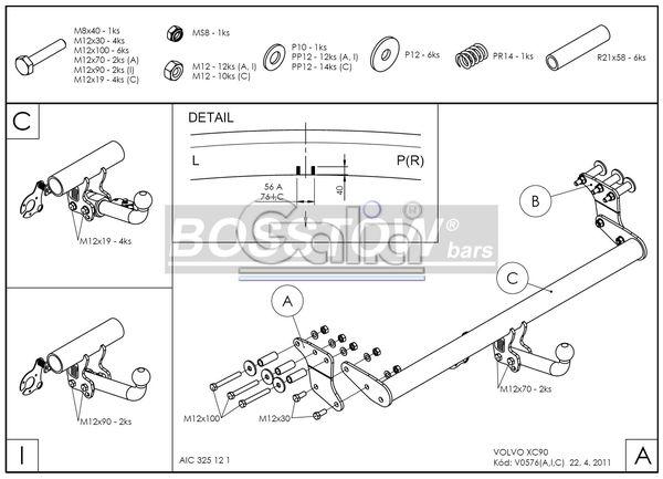 Anhängerkupplung Volvo-XC 90 - 2004-2015,