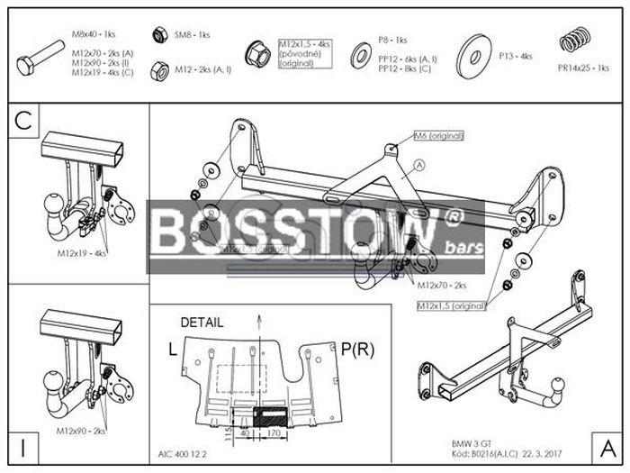 Anhängerkupplung BMW-3er GT F34, Baujahr 2014-