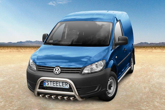 Frontschutzbügel Kuhfänger Bullfänger VW Caddy Maxi 2015-2017, Steelbar QRU 70mm