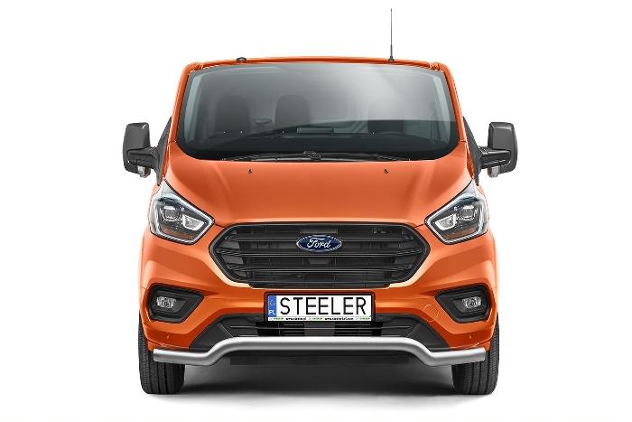 Frontschutzbügel Kuhfänger Bullfänger Ford Transit Custom 2018-, Sportbar 70mm
