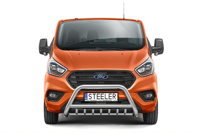 Frontschutzbügel Kuhfänger Bullfänger Ford Transit Custom 2018-, Steelbar QRU 70mm