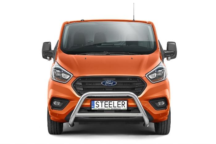 Frontschutzbügel Kuhfänger Bullfänger Ford Transit Custom 2018-, Steelbar Q 70mm