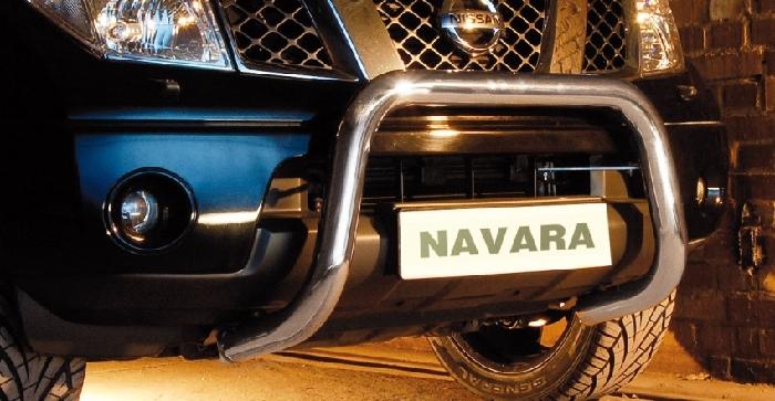 Frontschutzbügel Kuhfänger Bullfänger Nissan Navara D40 2005-2010, Steelbar 70mm, schwarz beschichtet