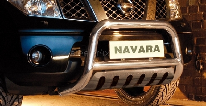 Frontschutzbügel Kuhfänger Bullfänger Nissan Navara D40 (V6) 2010-2015, Steelbar QFU 70mm