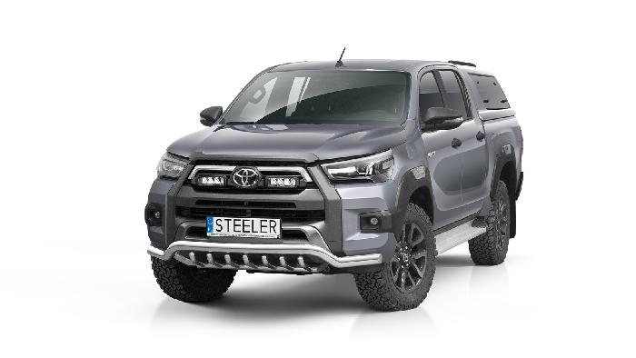 Frontschutzbügel Kuhfänger Bullfänger Toyota Hi-Lux Invincible 2021-, Steelbar QRU 60mm