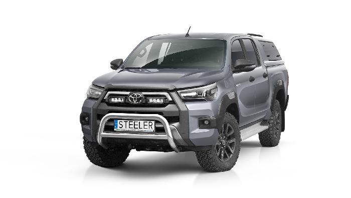 Frontschutzbügel Kuhfänger Bullfänger Toyota Hi-Lux Invincible 2021-, Steelbar Q 70mm