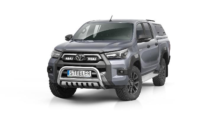 Frontschutzbügel Kuhfänger Bullfänger Toyota Hi-Lux Invincible 2021-, Steelbar QFU 70mm