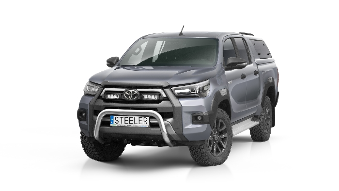 Frontschutzbügel Kuhfänger Bullfänger Toyota Hi-Lux Invincible 2021-, Steelbar 70mm