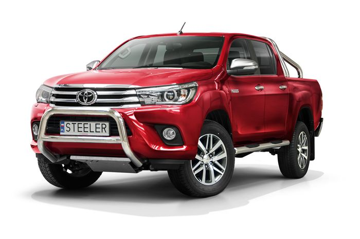 Frontschutzbügel Kuhfänger Bullfänger Toyota Hi-Lux 2015-2018, Steelbar Q 70mm