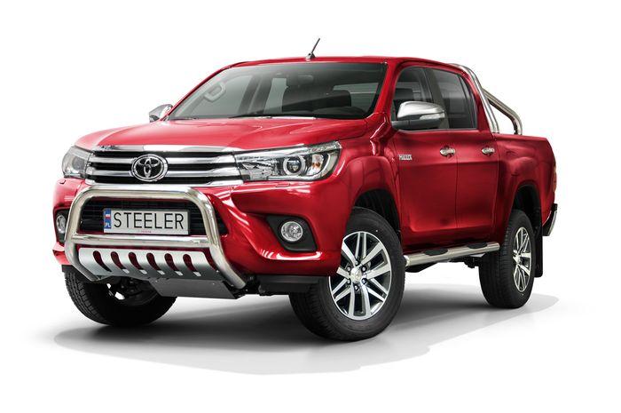 Frontschutzbügel Kuhfänger Bullfänger Toyota Hi-Lux 2015-2018, Steelbar QFU 70mm