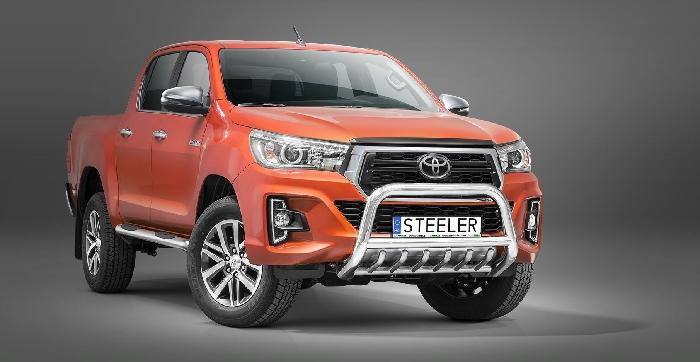 Frontschutzbügel Kuhfänger Bullfänger Toyota Hi-Lux 2018-, Steelbar QRU 70mm