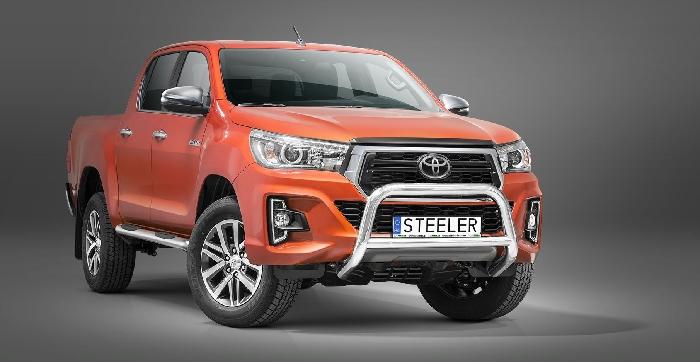 Frontschutzbügel Kuhfänger Bullfänger Toyota Hi-Lux 2018-, Steelbar Q 70mm