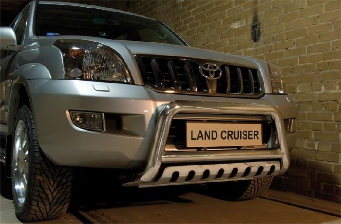 Frontschutzbügel Kuhfänger Bullfänger Toyota Land Cruiser 120/J12 2002-2009, Steelbar QFU 70mm
